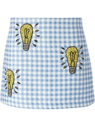 Au Jour Le Jour Embellished Lightbulb Skirt Blue