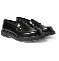 Adieu Type 5 Crepe Sole Leather Penny Loafers