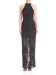 Abs By Allen Schwartz Lace Halter Gown Forest