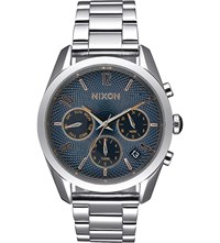Nixon Bullet Chronograph A949 2195 00 Stainless Steel Watch Blue