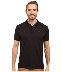 Calvin Klein Short Sleeve Interlock Polo Black Men's Short Sleeve Knit