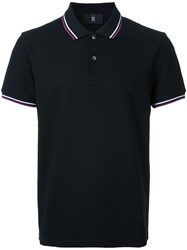 Kent And Curwen Striped Collar Polo Shirt Black