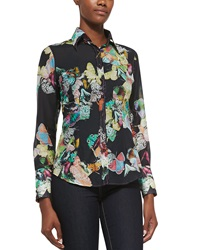 Georg Roth Los Angeles Butterfly Print Cotton Blouse