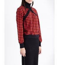 Opening Ceremony Esprit Checked Flannel Top Red Blk