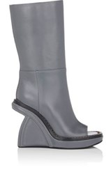 Marni Women's Sculpted Heel Mid Calf Boots Dark Grey
