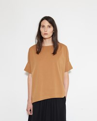 Christophe Lemaire Short Sleeve Loose Tee Tobacco