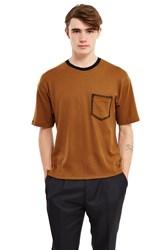 Wooyoungmi Blanket Stitch Tee Camel