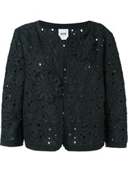 Moschino Vintage Floral Embroidered Jacket Black