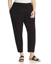 Eileen Fisher Plus Tapered Ankle Pants Black