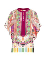 Etro Paisley And Floral Print Silk Blend Blouse