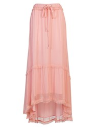 French Connection Connie Chiffon Maxi Skirt Rose Tan