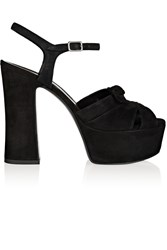 Saint Laurent Candy Suede Platform Sandals