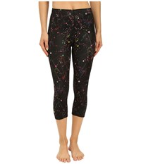 Cw X 3 4 Stabilyx Print Constellation Print Women's Workout Black