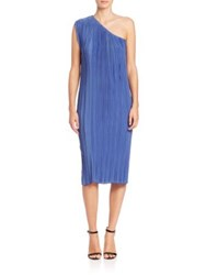 Tome Pleated Satin One Shoulder Dress