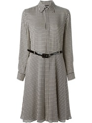 Ralph Lauren Black Label Ralph Lauren Black Houndstooth Print Shirt Dress