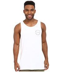 Tavik Crew Knit Tank Top White Men's Sleeveless