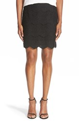 Chelsea 28 Women's Chelsea28 Lace Pencil Skirt Black