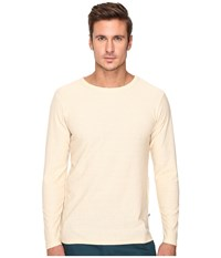 Publish Kamari Heathered Terry Long Sleeve With Overlock Stitching Throughout Natural Men's Clothing Beige