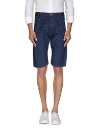 Raw Correct Line By G Star Trousers Bermuda Shorts Men Slate Blue