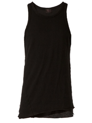 Lost And Found Racer Back Tank Top Black