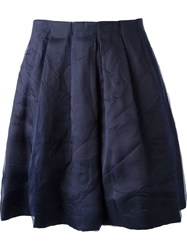 Erika Cavallini Semi Couture Pleated A Line Skirt Blue