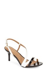 Calvin Klein Women's 'Lorren' Leather Sandal Platinum White Patent