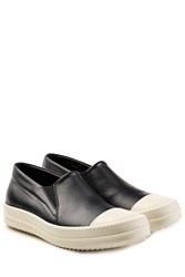 Rick Owens Leather Slip On Sneakers Multicolor