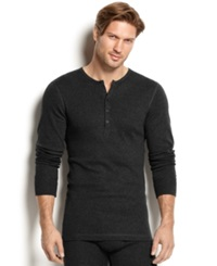 2Xist 2 X Ist Men's Essential Range Long Sleeve Henley Black