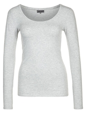 Zalando Essentials Long Sleeved Top Light Grey Melange Mottled Light Grey
