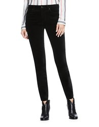 Vince Camuto Washed Velvet 5 Pocket Skinny Jean Black