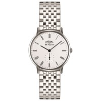 Rotary Gb90050 01 Men's Les Originales Kensington Bracelet Strap Watch Silver White