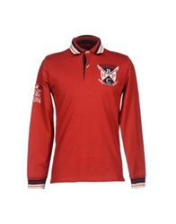 Beverly Hills Polo Club Polo Shirts Red