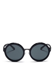 3.1 Phillip Lim X Linda Farrow Wire Rim Acetate Round Sunglasses Black