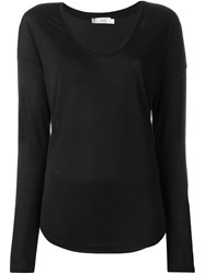 Vince Scoop Neck Sweater Black