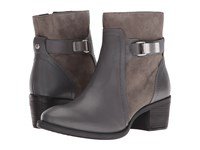 Hush Puppies Fondly Nellie Smoke Leather Suede Women's Boots Brown
