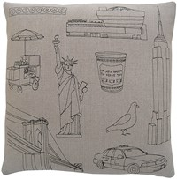 K Studio New York City Pillow
