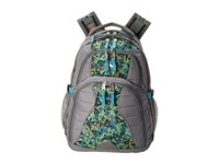 High Sierra Swerve Backpack Charcoal Electric Geo Tropic Teal Backpack Bags Gray