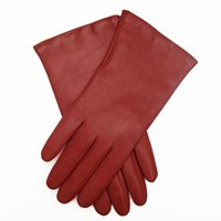 Portolano Nappa Cashmere Lined Leather Gloves Moroccan Red