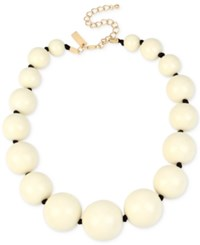 Inc International Concepts Iris X Gold Tone Large Bead Collar Necklace Only At Macy's Ivory