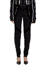 Altuzarra Rye Velvet Taped Slim Leg Pants Black