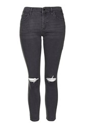 Topshop Petite Rip Leigh Jeans Grey