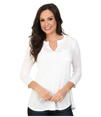 Lucky Brand Pocket Tunic Lucky White Women's Blouse