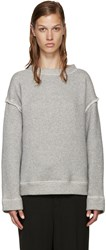 Helmut Lang Grey French Terry Pullover