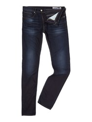 Duck And Cover Men's Straight Fit Tapered Boxren Jeans Blue