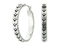 The Sak Sakroots By Etched Metal Hoop Earrings Silver Earring