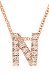Bony Levy Women's Pave Diamond Initial Pendant Necklace Nordstrom Exclusive Rose Gold N