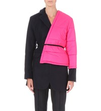 Jacquemus Le Manteau Quilted Wool Blend Jacket Navy Pink