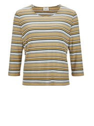 Eastex Stripe Jersey Top Green