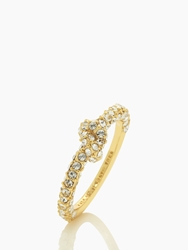 Kate Spade Sailor's Knot Pave Ring Clear Gold