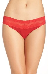 Natori Women's 'Bliss Perfection' Thong Real Red